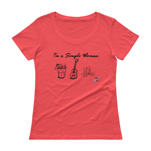I'M A SIMPLE WOMAN Ladies' Scoopneck T-Shirt | Various Colors