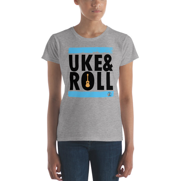 UKE & ROLL Ladies' Short Sleeve T-Shirt | Blue | Fashion Fit | Various Colors