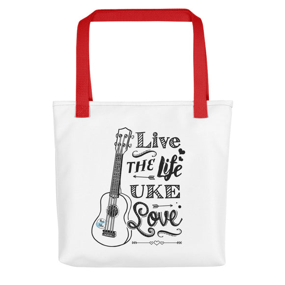 LIVE THE LIFE UKE LOVE Tote Bag | Various Colors