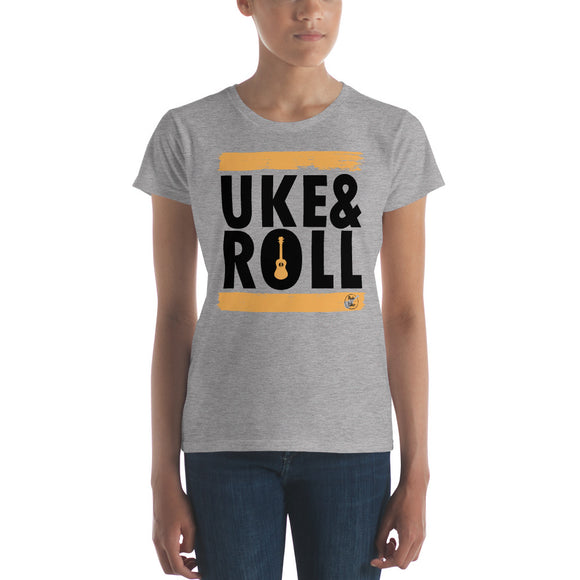 UKE & ROLL Ladies' Short Sleeve T-Shirt | Orange | Fashion Fit | Various Colors