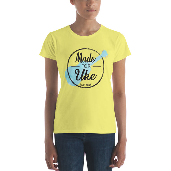 MADE FOR UKE LOGO Ladies' Short Sleeve T-Shirt | Fashion Fit | Various Colors