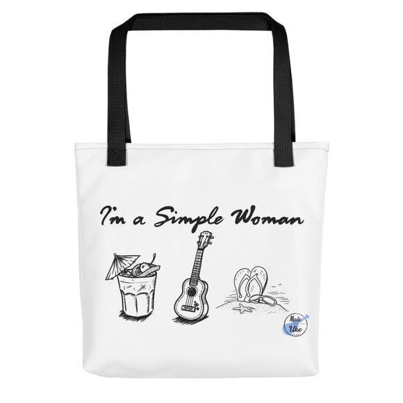 I'M A SIMPLE WOMAN Tote Bag | Various Colors