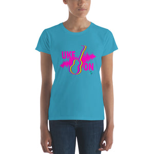 UKE ON Ladies' Short Sleeve T-Shirt | Hot Pink | Fashion Fit | Various Colors