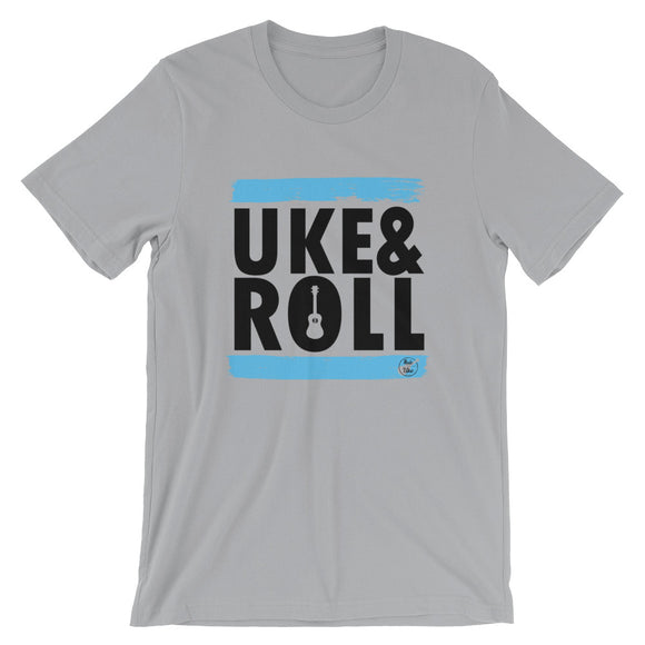 UKE & ROLL Short-Sleeve Unisex T-Shirt | Blue | Relaxed Fit | Various Colors