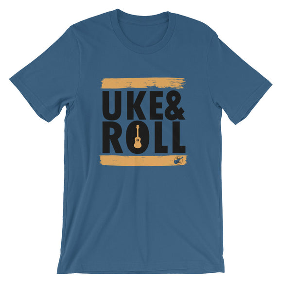 UKE & ROLL Short-Sleeve Unisex T-Shirt | Orange | Relaxed Fit | Various Colors