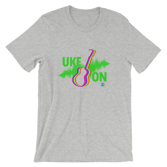 UKE ON Short-Sleeve Unisex T-Shirt | Neon Green | Relaxed Fit | Various Colors