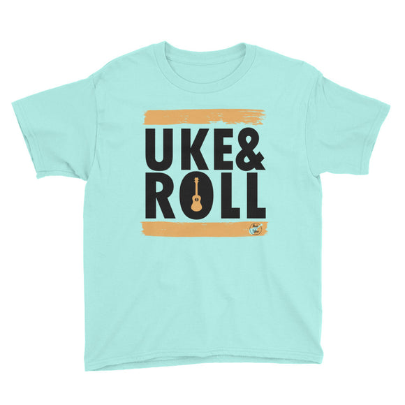 UKE & ROLL Youth Short Sleeve Unisex T-Shirt | Orange | Various Colors