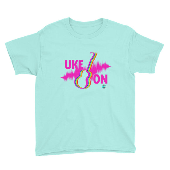 UKE ON Youth Short Sleeve Unisex T-Shirt | Hot Pink | Various Colors