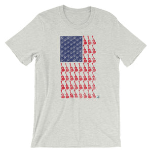 AMERICAN FLAG Short Sleeve Unisex T-Shirt | Relaxed Fit | Various Colors