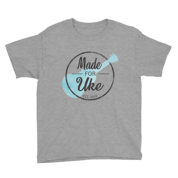 MADE FOR UKE LOGO Youth Short Sleeve Unisex T-Shirt | Various Colors