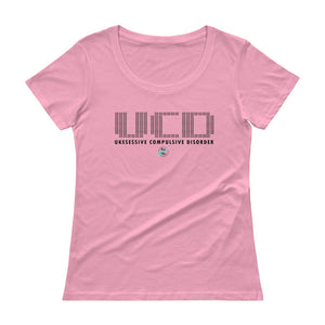 UKESESSIVE COMPULSIVE DISORDER Ladies' Scoopneck T-Shirt | Various Colors