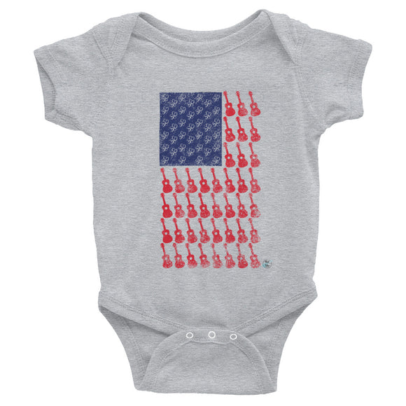 AMERICAN FLAG Infant Bodysuit | Various Colors