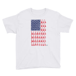 AMERICAN FLAG Youth Short Sleeve Unisex T-Shirt | Various Colors