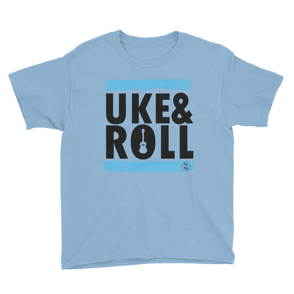 UKE & ROLL Youth Short Sleeve Unisex T-Shirt | Blue | Various Colors