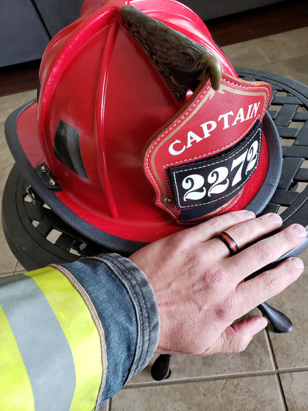 silicone ring for firefighters, silicone wedding ring for firefighter husband, rubber ring for men, fireman silicone ring, safe ring for firefighter, gift for firefighter husband, alternative wedding ring for husband