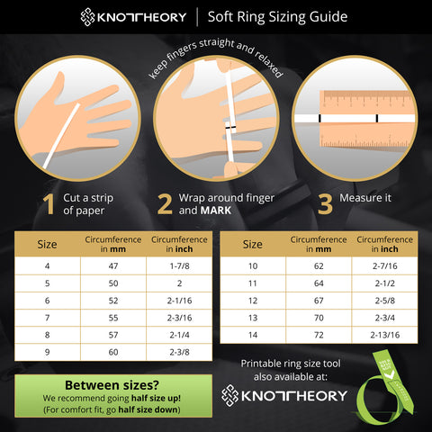 Knot Theory Ring Size Chart Tool