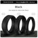 Black Bevel Comfort Fit Silicone Ring Man Woman