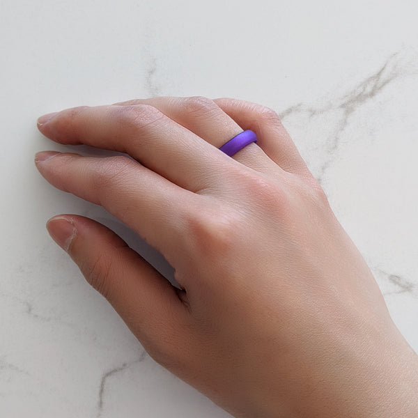Pearl Purple Breathable Silicone Ring for Women