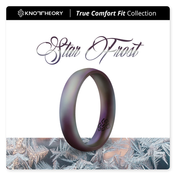 Star Frost Purple Breathable Silicone Ring for Women