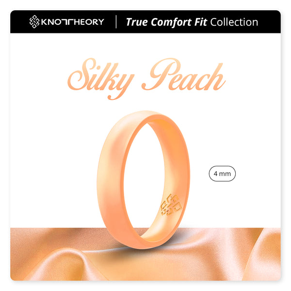 Pearl Baby Orange Breathable Silicone Ring for Women