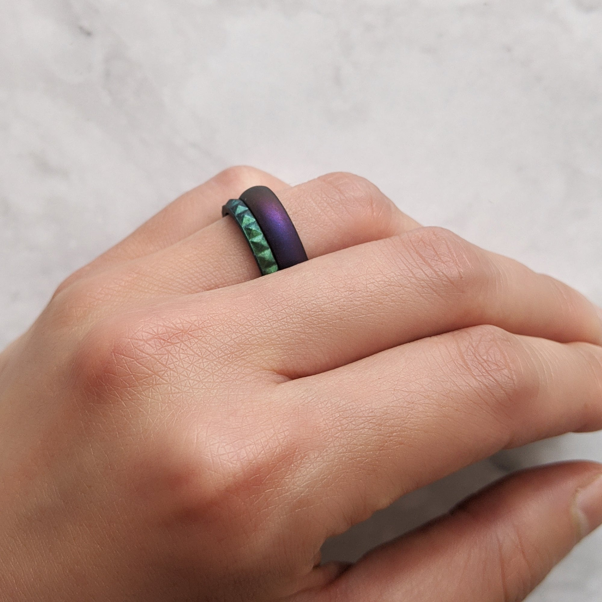 Cosmic Purple Breathable Silicone Ring for Women