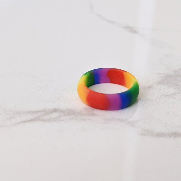 Double Rainbow Silicone Ring for Women