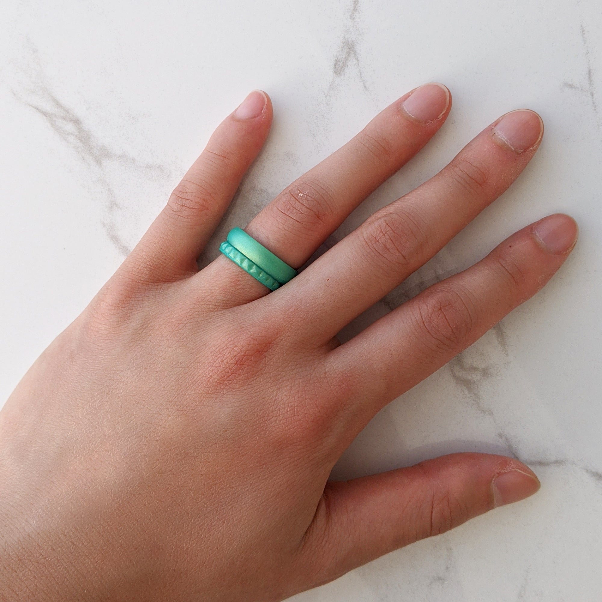 Pearl Green Breathable Silicone Ring for Women