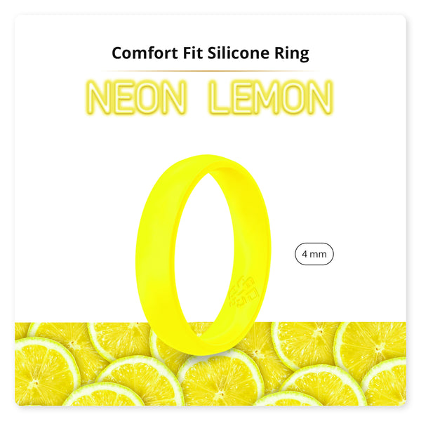 Neon Lemon Yellow Breathable Silicone Ring