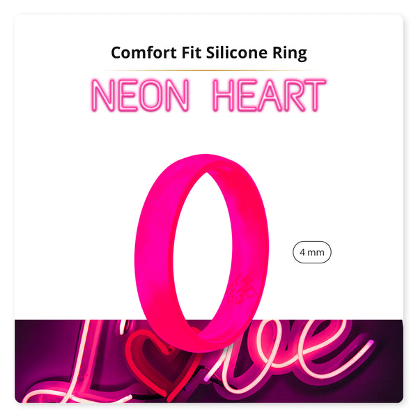 Neon Hot Pink Breathable Silicone Ring