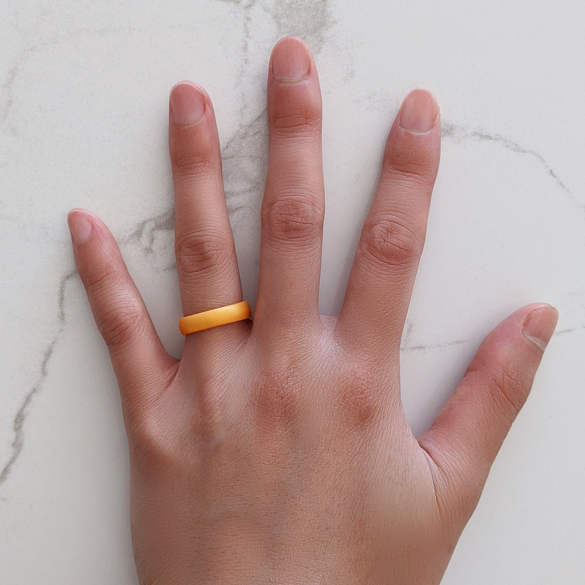Pearl Orange Breathable Silicone Ring for Women