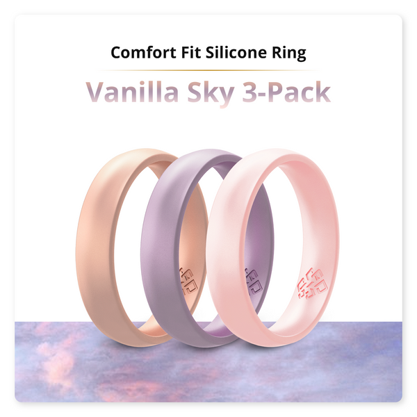 Vanilla Sky 3-Pack Breathable Silicone Rings