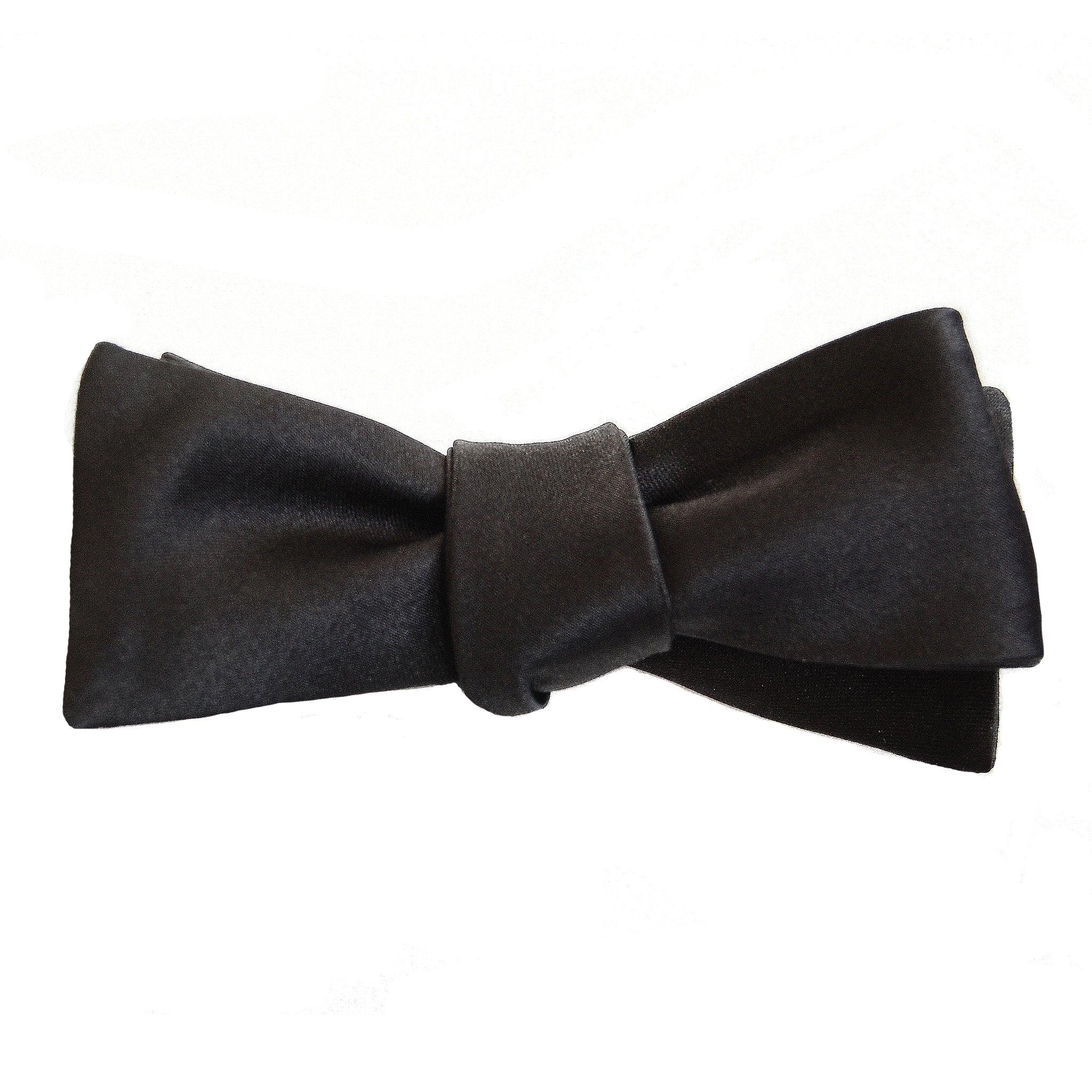 Black batwing skinny self-tying bow tie