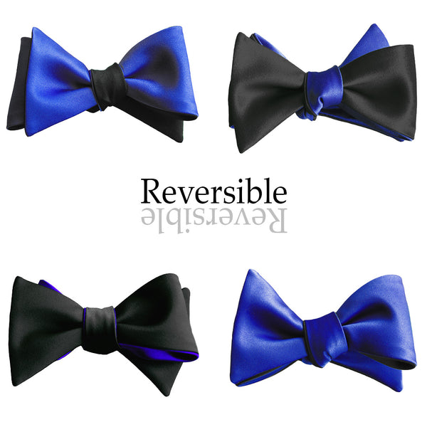 Black & Royal Blue Butterfly Bow Tie