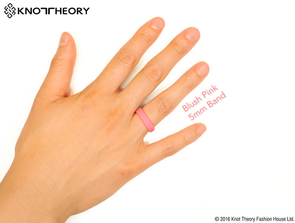 Blush Pink Silicone Wedding Ring Woman