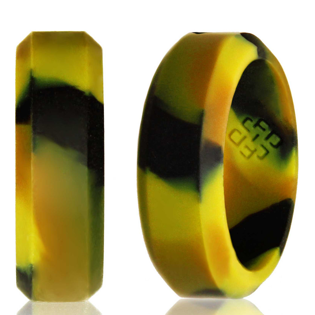Camo Camouflage Silicone Wedding Ring