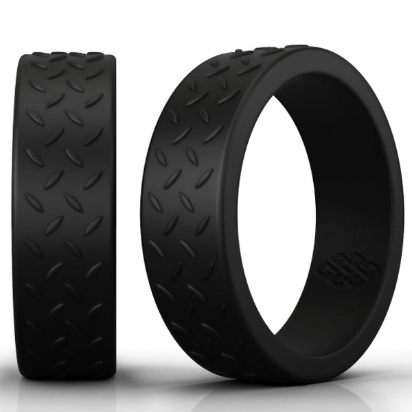 Knot Theory Athletic Silicone Wedding Rings in Black – 8mm Bandwidth