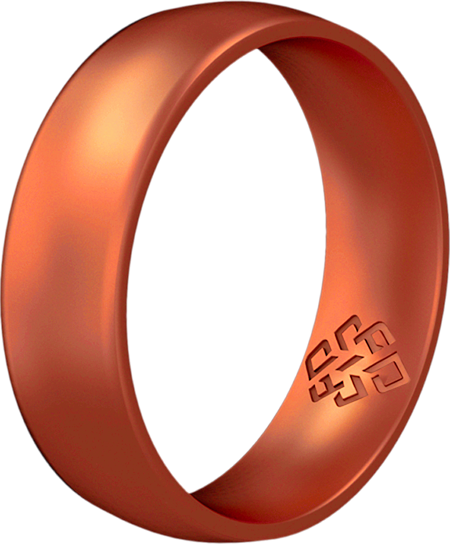 Copper Breathable Silicone Ring for Men and Women