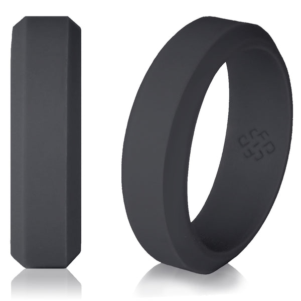 Knot Theory High Performance Silicone Wedding Band in Dark Grey - 6mm or 8mm Bandwidth