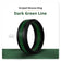 Dark Green Striped Silicone Ring Man