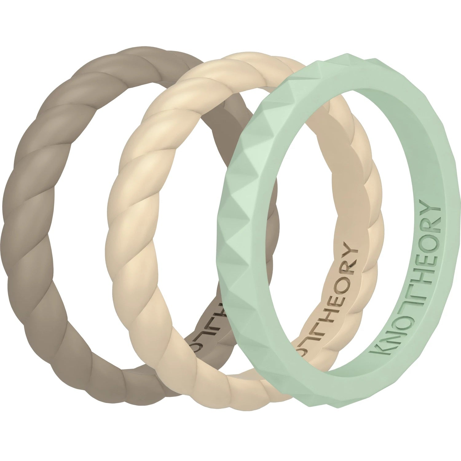 Kindness Stackable 3-Pack Breathable Silicone Rings For Women