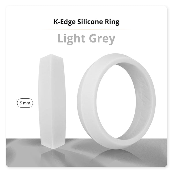 Light Grey K-Edge Silicone Ring For Women