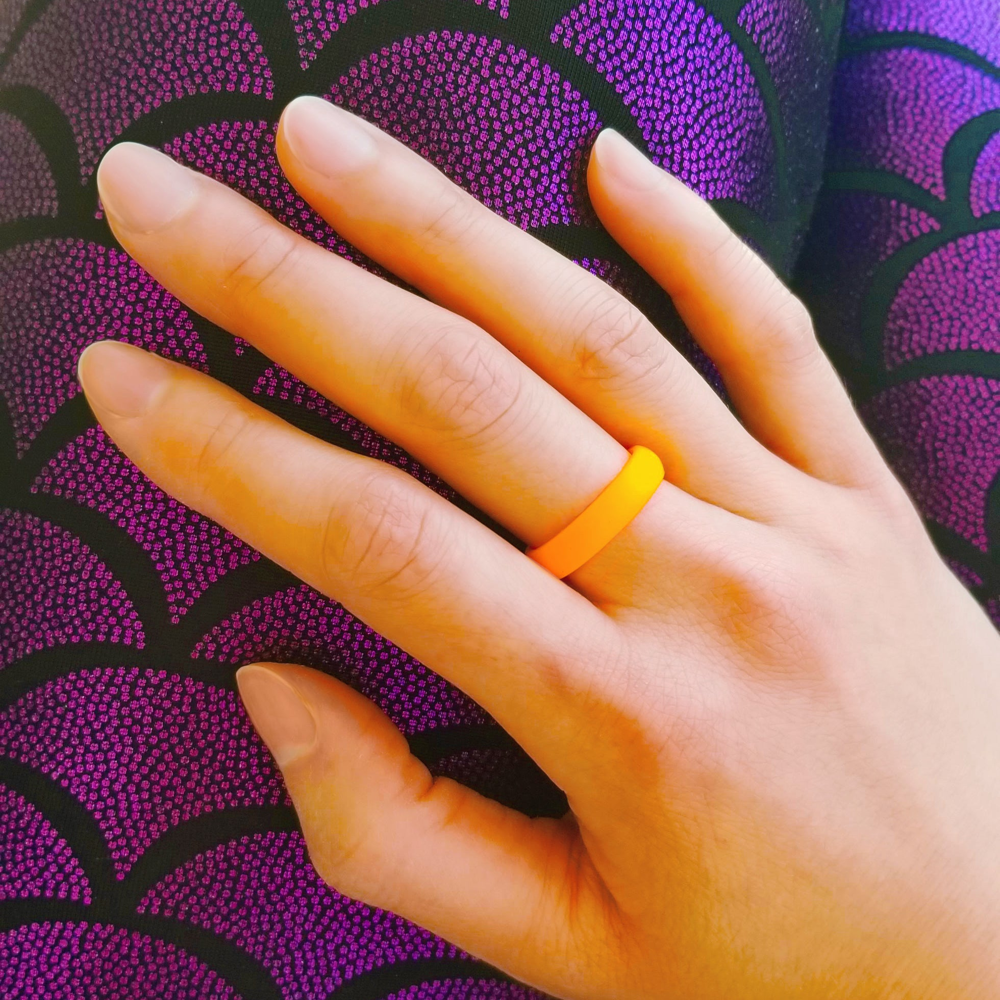 Neon Orange Breathable Silicone Ring