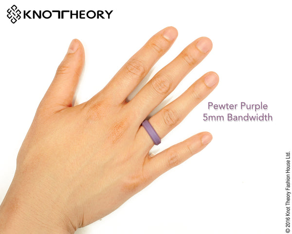 Pewter Purple Silicone Wedding Ring Woman
