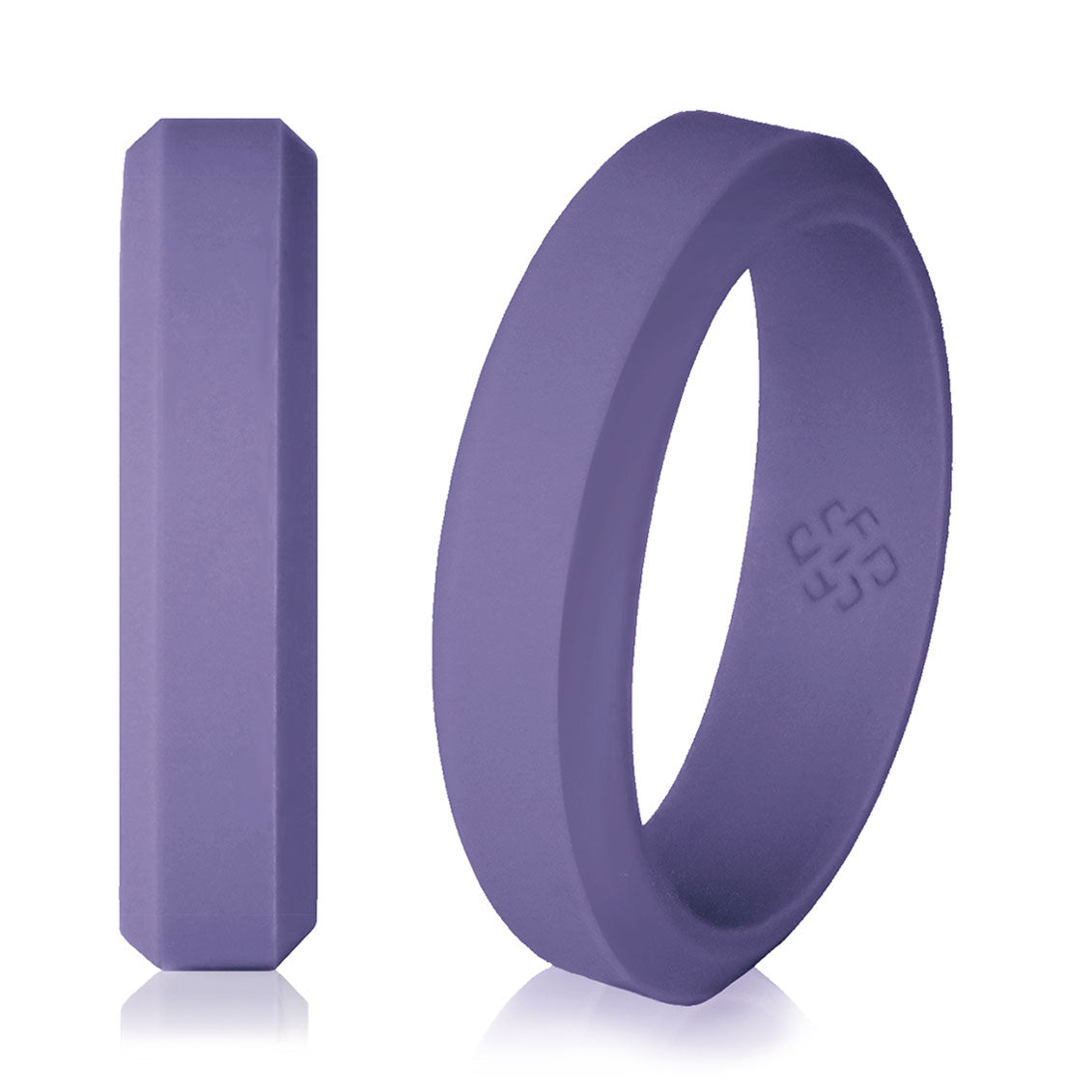 Knot Theory Elegant Pewter Purple Silicone Wedding Rings for Woman –  5mm or 6mm Bandwidth