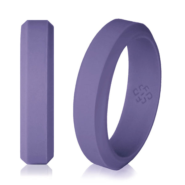 Pewter Purple Silicone Ring for Women