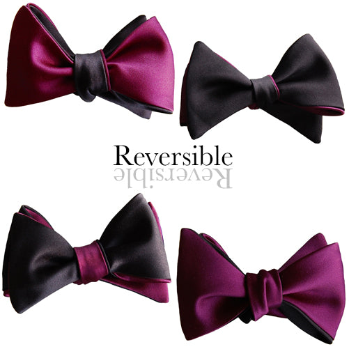 Purple and Black Butterfly Bow Tie