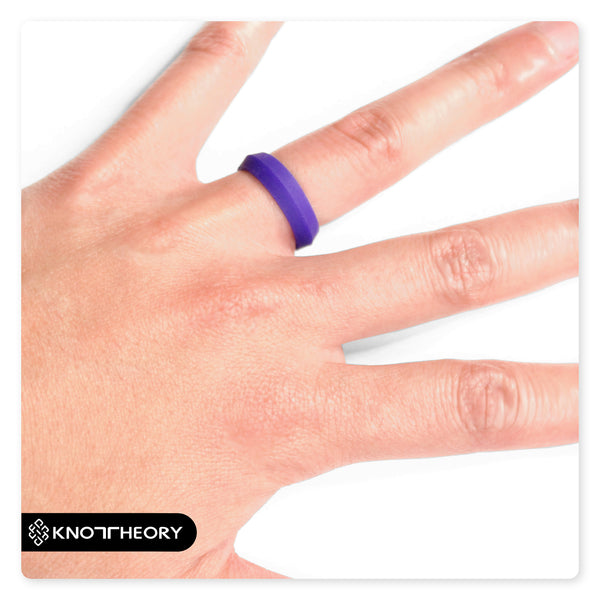 Royal Purple K-Edge Silicone Ring For Women