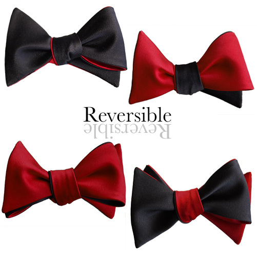 Black and red 4-way Butterfly Self-tying Bow Tie