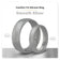 Smooth Silver Domed Comfort Fit Silicone Ring Man Woman