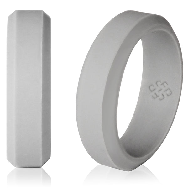 Light Grey Silicone Wedding Ring